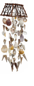 Woodtop Wind Chime With Assorted Sea Shells
