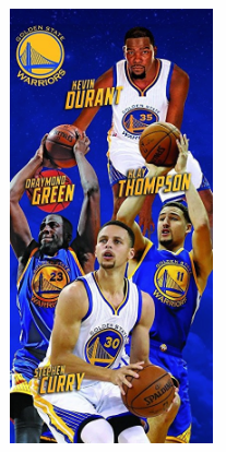 NBA Golden State Warriors Stephen Curry, Klay Thompson, Draymond Green, Kevin Durant, Beach Towel 28 in x 58 in