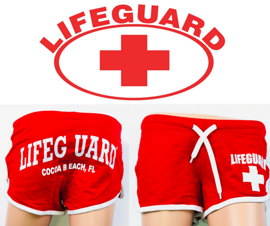 "Lifeguard "" Cocoa Beach "" Fl Swimsuits - Red"