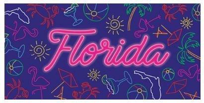 PARTY TIME FLORIDA BEACH TOWEL
