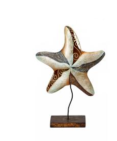 Capiz Shells & Starfish On Stand