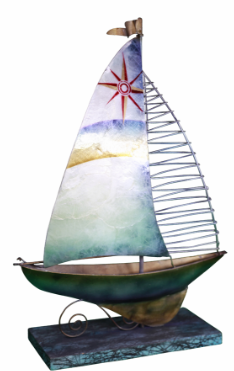 """Sailboat on Stand 12.5"""""""