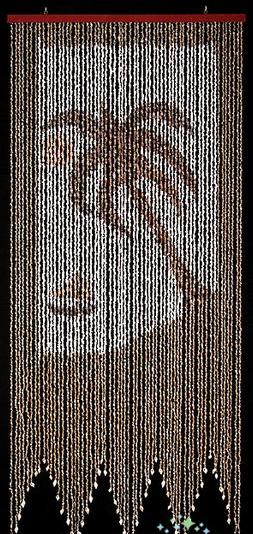 "Curtain Shell 32 x 76""-Palm Tree"