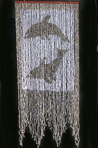 """Curtain Shell 31.5 x 76""""- Dolphin"""
