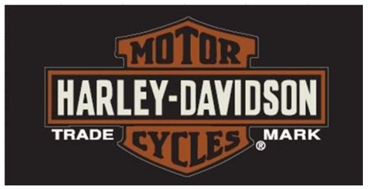 Horizontal Harley Davidson Trademark Beach Towel 30 in x 60 in