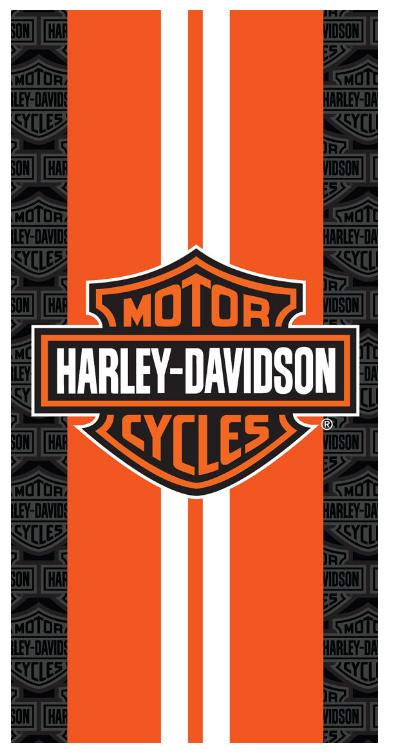 Harley Davidson Racing Stripes Beach Towel 30 in X 60 in