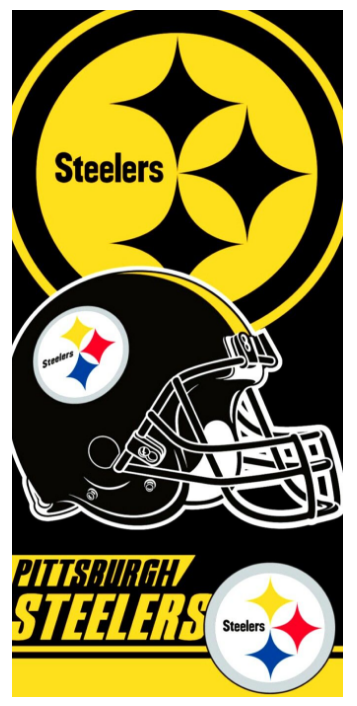 NFL Pittsburgh Steelers Beach Towel 28 in X 58 in