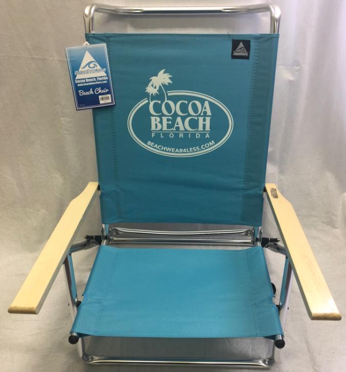 5 Position Beach Chair Lay-Flat 1 Pack