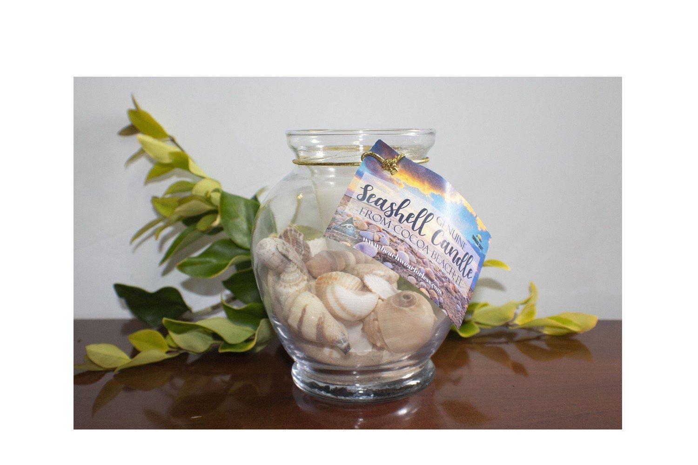 Genuine Seashell and Sand Candle Jar
