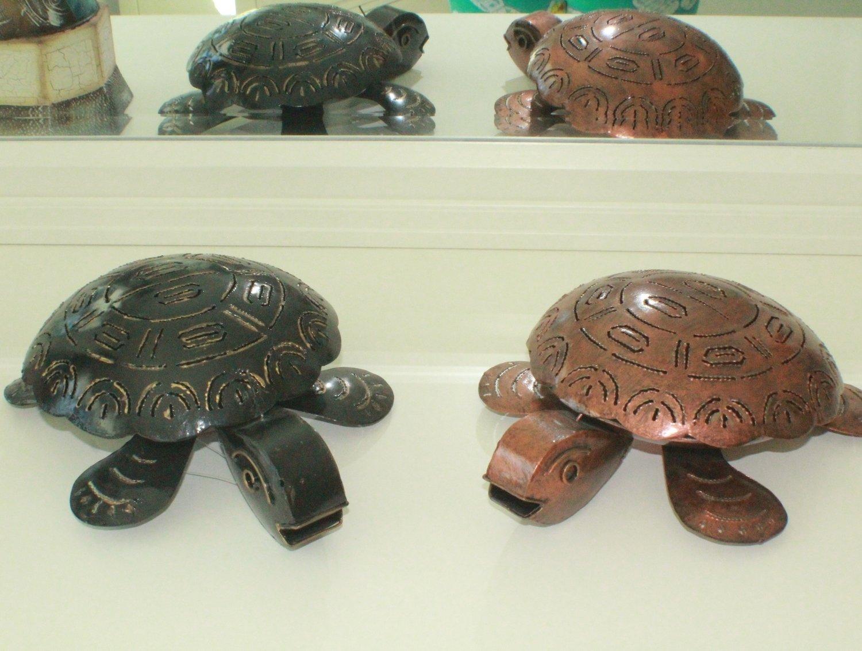 Metal Turtle Candle Holder