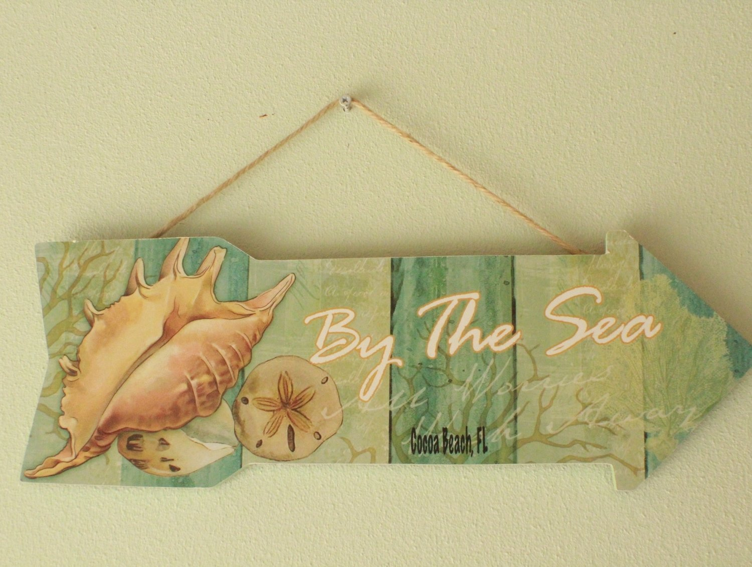 """""""By The Sea"""" Hanging Wall Sign"""