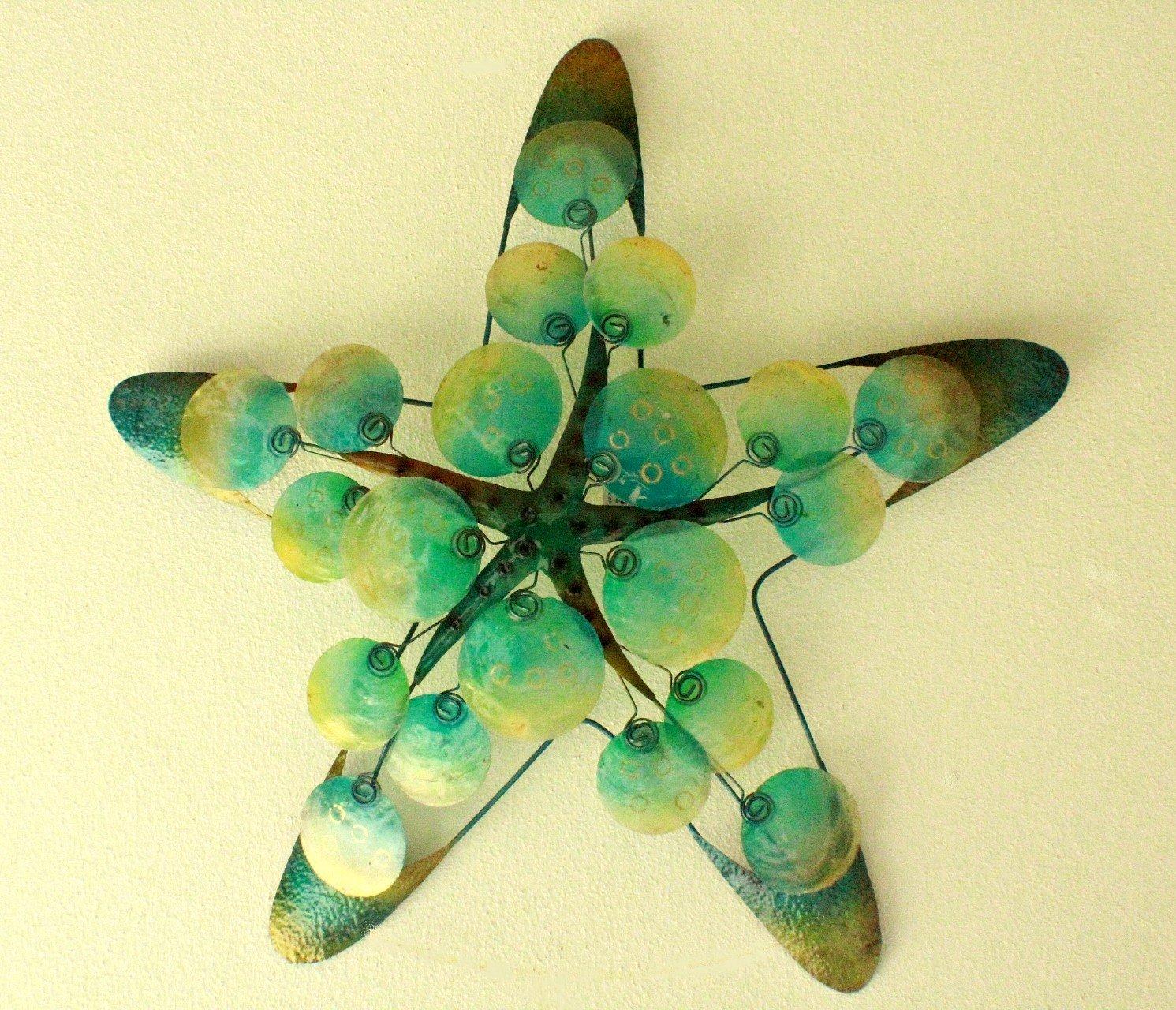 Metal & Capiz Star Fish wall Decor