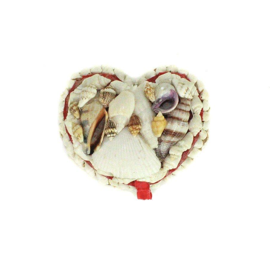 Natural Seashell Small Heart Shaped Jewelry Box