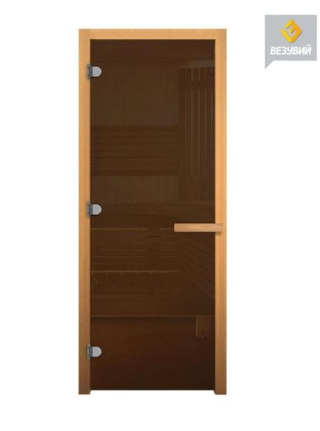 Дверь стекло  Бронза, 1900х700мм (8мм, 3 петли 716 GB (Магнит) (ОСИНА)