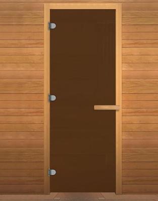 Дверь стекло Бронза Матовая 1900х700мм (8мм, 3 петли 716 GB) (Магнит) (ОСИНА)