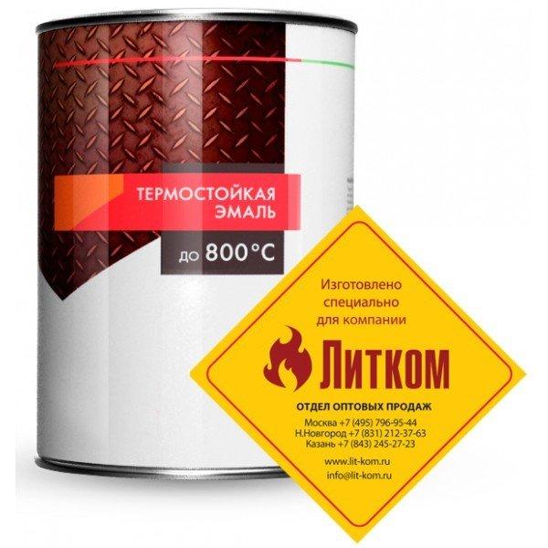 """Эмаль термостойкая черная (0,8 кг) """"ELCON"""""""