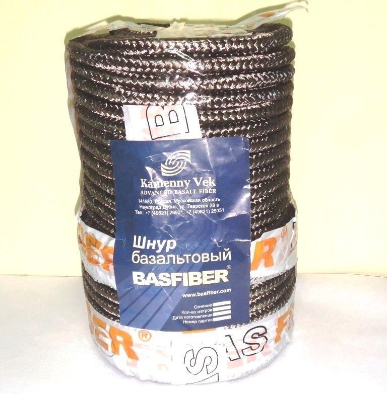 Шнур базальтовый 6мм - 1метр