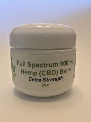 THC-FREE CBD (99+% pure) Extra Strength Balm 900mg 2oz