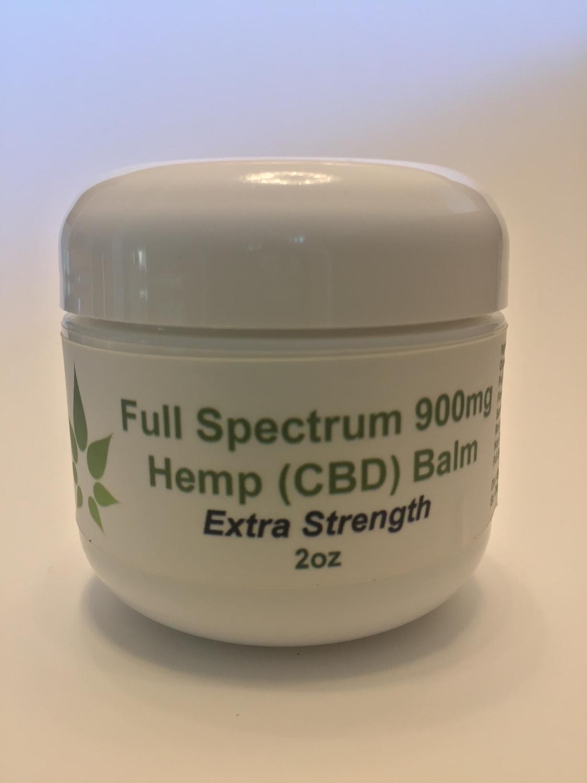 Full Spectrum Hemp (CBD) Oil Extra Strength Balm 2oz (900mg) - Intensive Pain Relief!