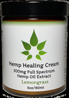 Full Spectrum Hemp Oil Pain Relief Cream with 300mg 6oz - Intensive Pain Relief!