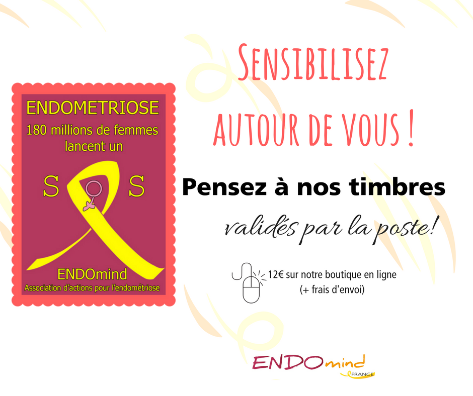 Timbres sensibilisation Endométriose Timbres roses