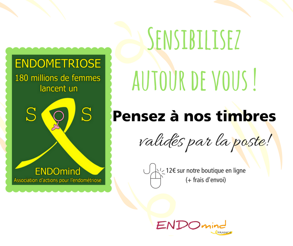 Timbres sensibilisation Endométriose Timbres verts