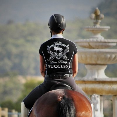 YRS Black & White Riding Top