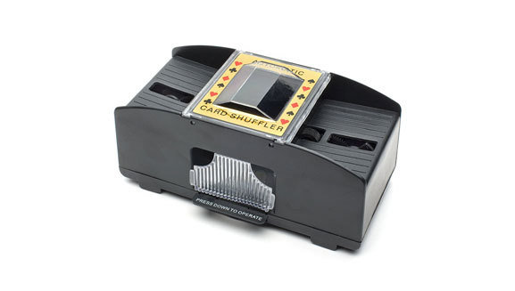 Trademark Poker 2-Deck Automatic Card Shuffler Black