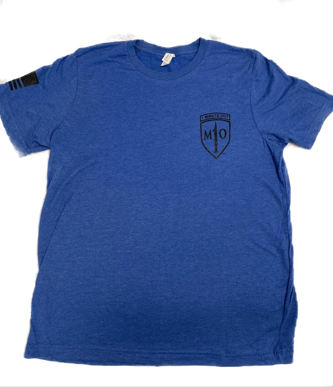 1 Minute Out Royal Blue  NVG Operator Logo T-Shirt-XLARGE