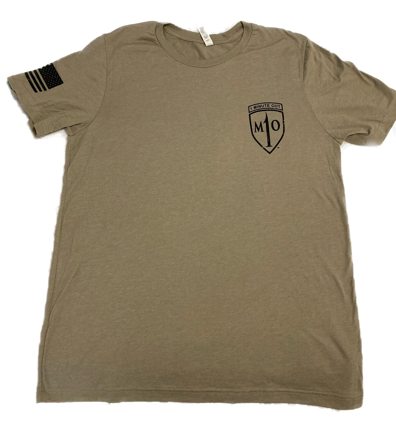 1 Minute Out Stone NVG Operator Logo T-Shirt-LARGE