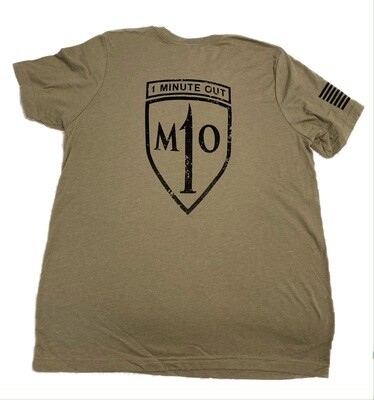 1 Minute Out Logo T-Shirt Stone LARGE