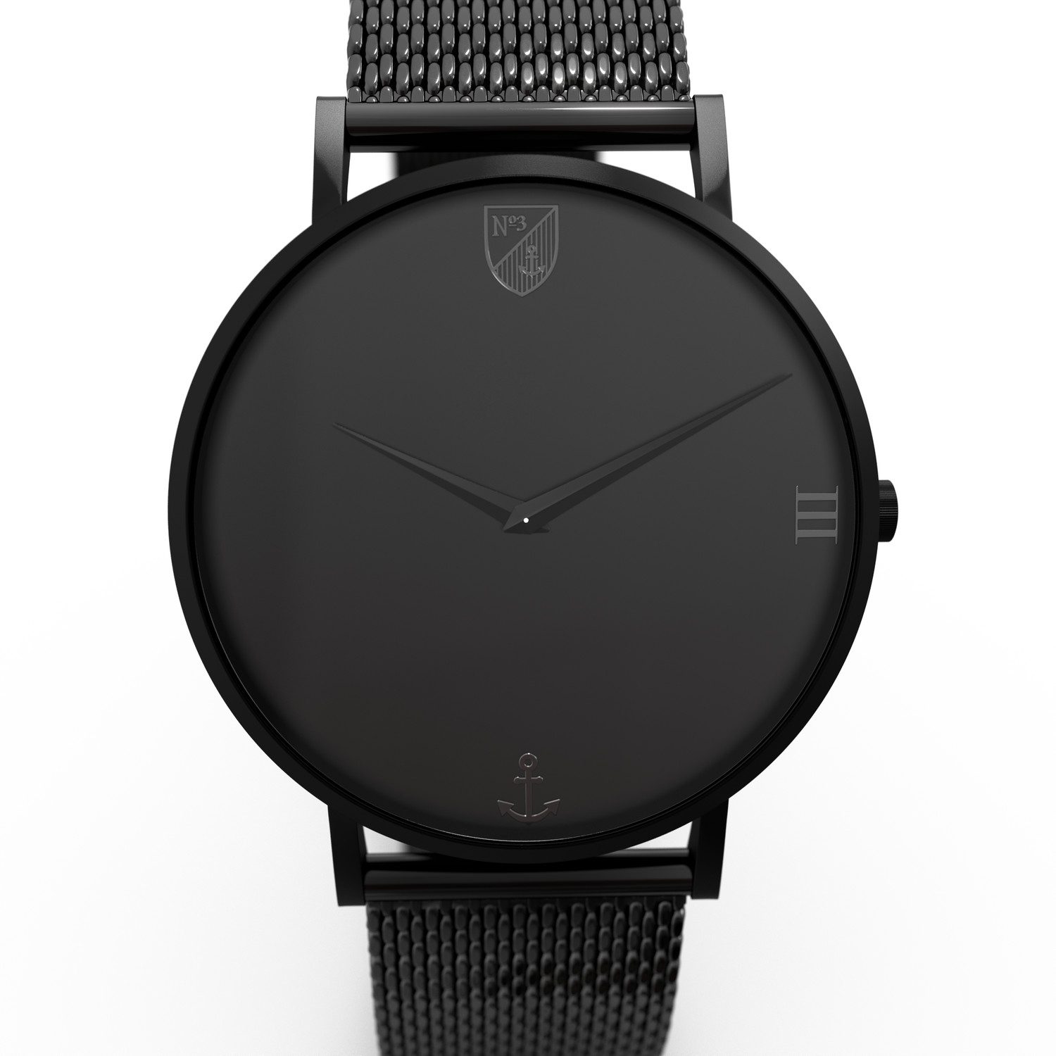 Number3 - Classic Black (36 mm)