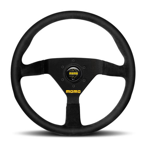 Steering Wheel Momo Model 78 32 φ New Logo Black Suede/Black Spokes