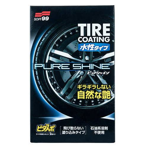 "Soft99 Water-Based Tire Coating ""Pure Shine"" STT026"