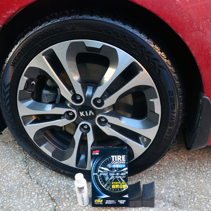 "Soft99 Water-Based Tire Coating ""Pure Shine"""