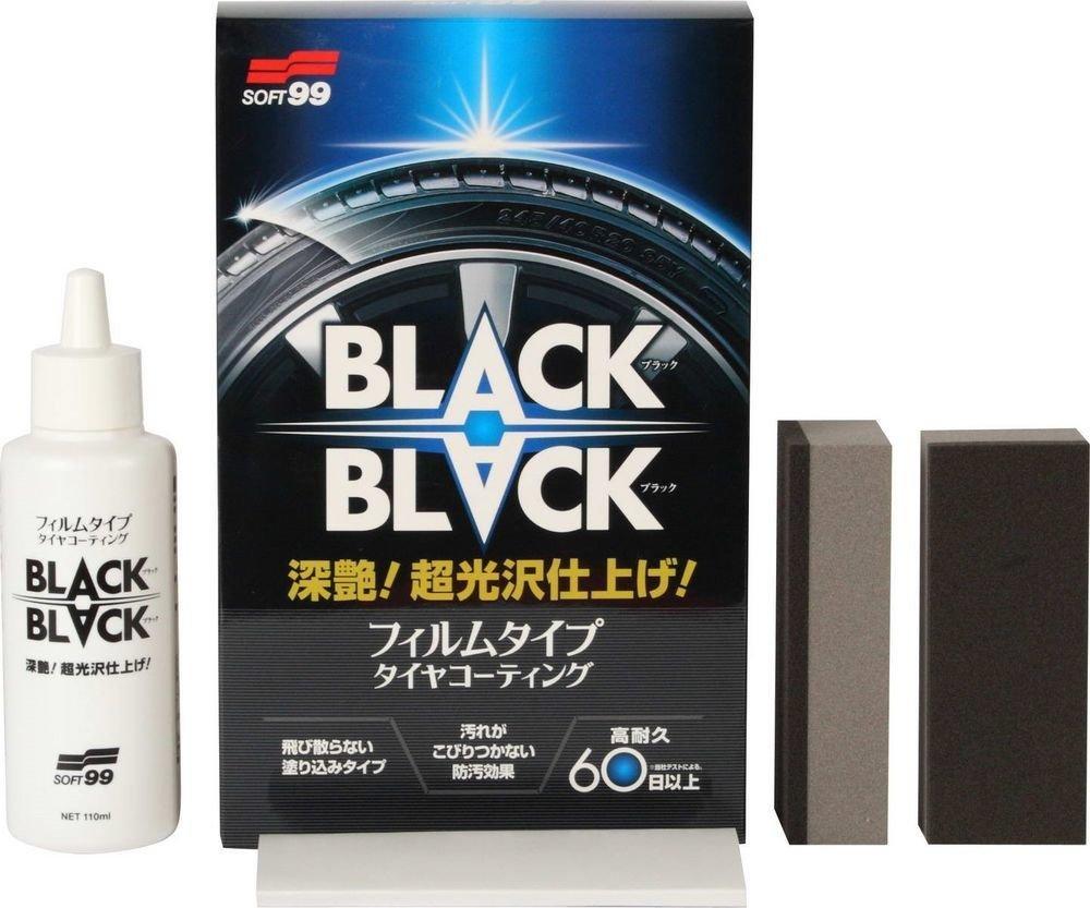 "Soft99 Hard Coat For Tire ""Black Black"""