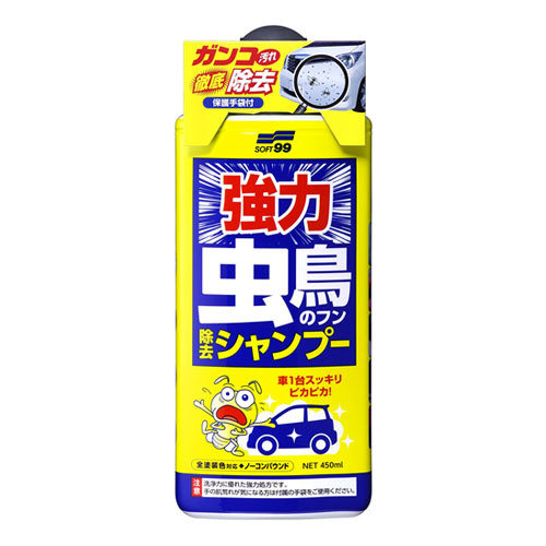Soft99 Bugs & Bird Droppings Removal Shampoo SES129