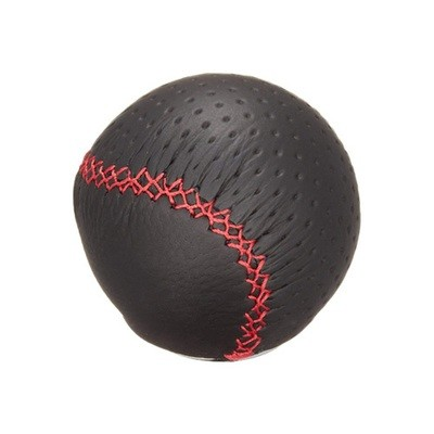 CARMATE RAZO LEATHER KNOB 240 RED STITCH