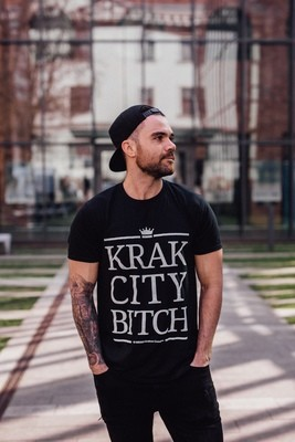 Krak City Bitch T-Shirt Black Large