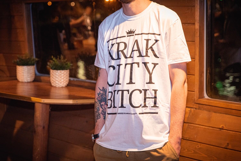 Krak City Bitch T-Shirt White Large