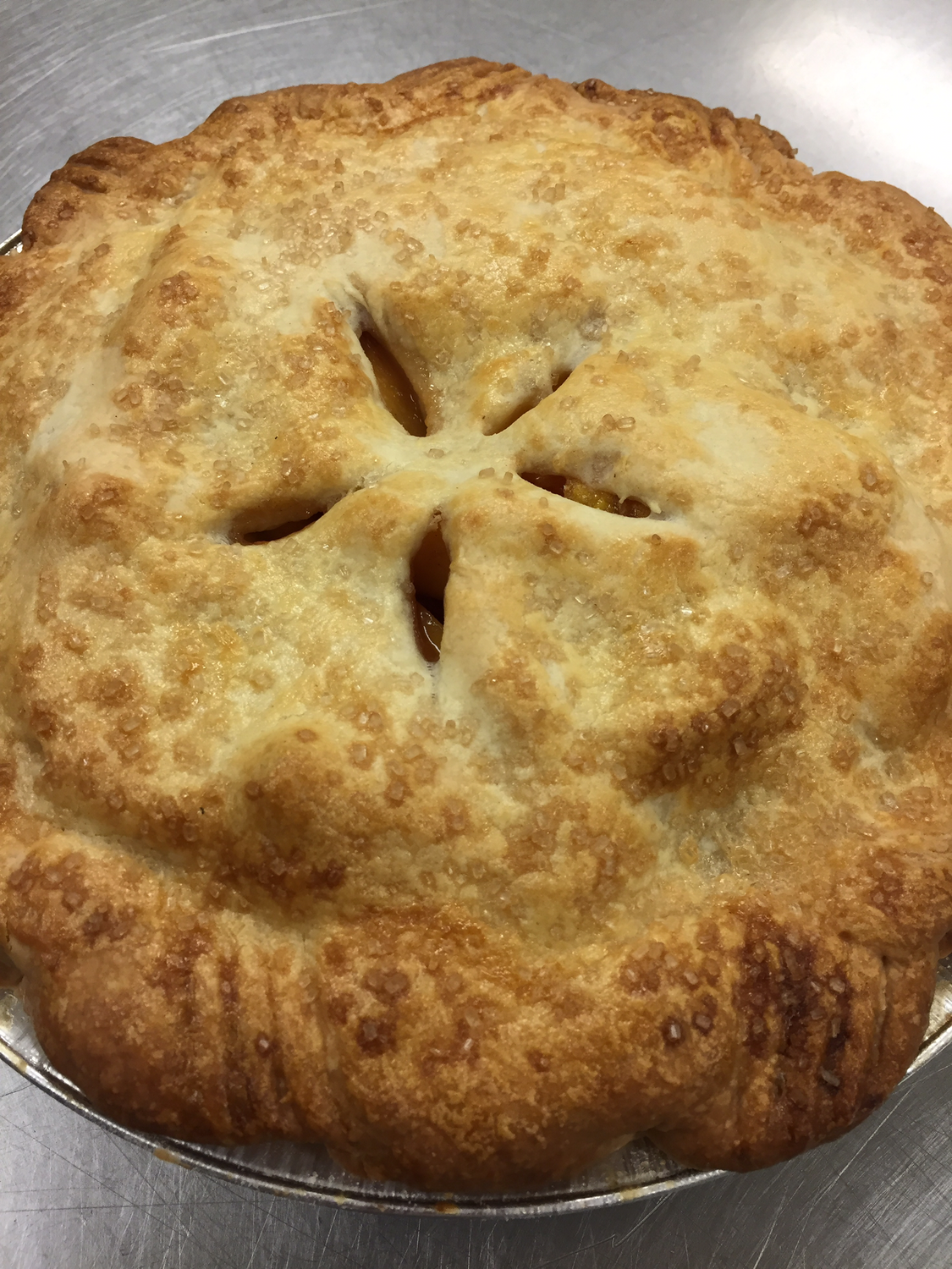 "9"" Palisade Peach Pie"