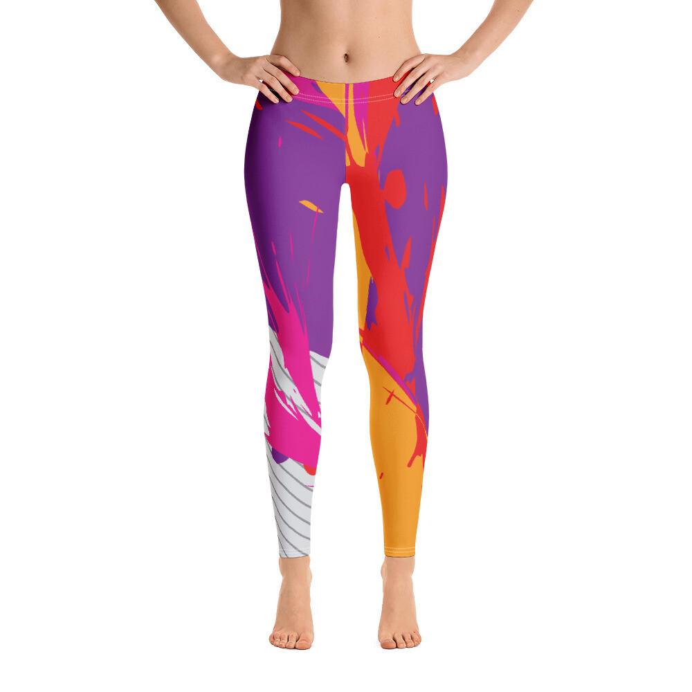 Colour splatter Modern Full Length Women Leggings