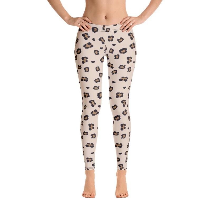 Cheetah women full print Leggings Printful USA