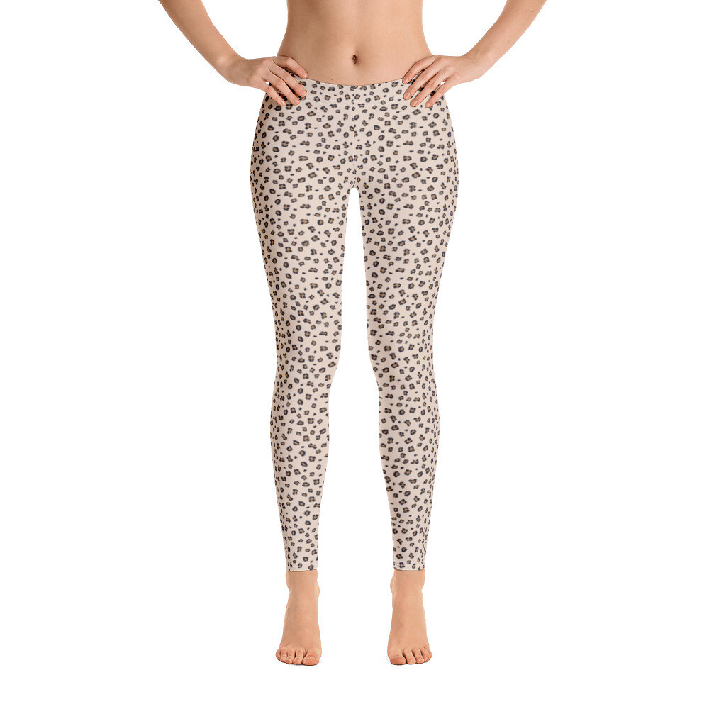 Cheetah Small Dots Leggings for Women Printed Printful USA
