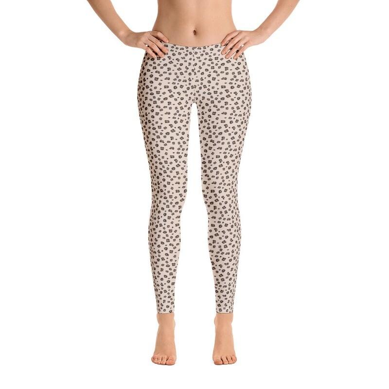 Cheetah Small Dots Leggings for Women Printed Printful USA