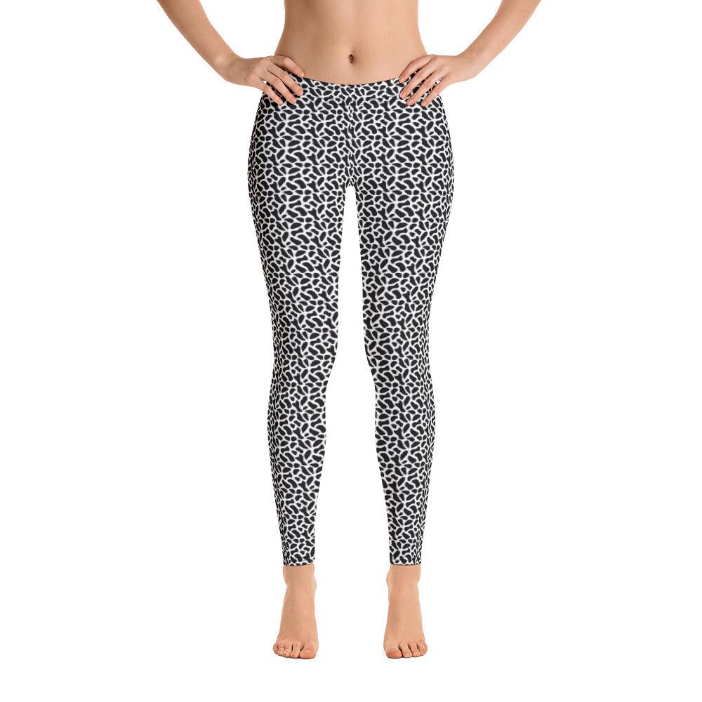 Black Pattern Dotted Skin Leggings for Women USA