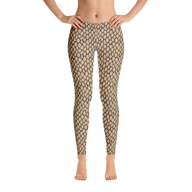 Snake Skin Luxury Modern Leggings for Women