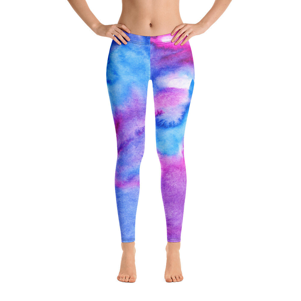 Water Colour Bright Leggings Full Print