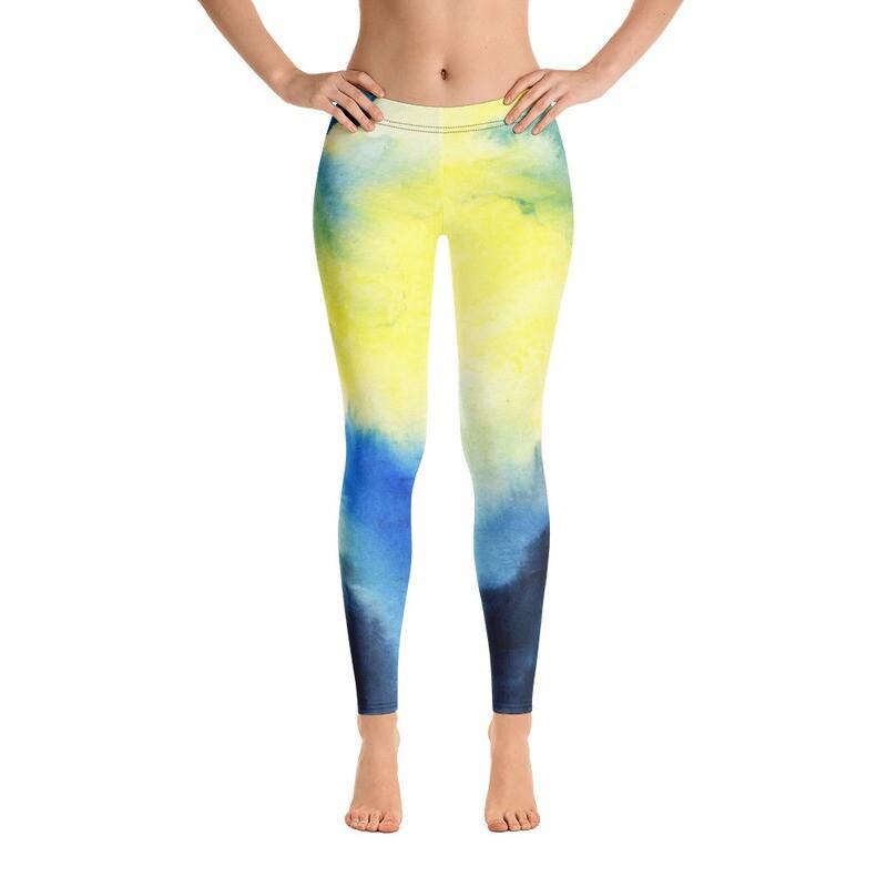 Water Colour Modern Leggings for Women