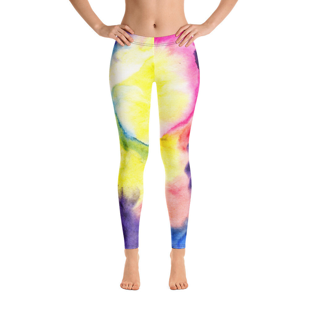 Watercolour Full Printed Leggings for Women